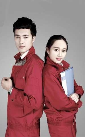 男女红色时尚套装