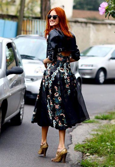 小夹克+大伞裙 就是新季new look
